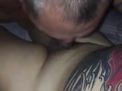 Tattooed belly asian bear be sucked