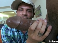 Tristan Mathews sucks a BBC and gets fucked hard in many positions