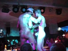 Unabashedly striptease & dousing with champagne