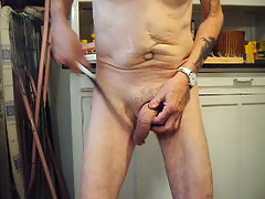 Beating my cock 70 times with a rope whip
