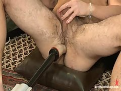 Gay Playing With Toys Before Machine Fuck