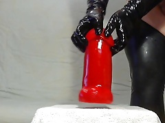 Gigadong Dildo and huge, extreme anal toys inside my ass