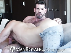ManRoyale Good morning couch fuck and facial after coffee