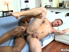 Ty Tucker lets black homo Izzy drill his butt deep and hard