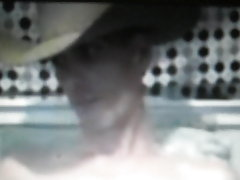 Horse hung cowboy jerking on cam