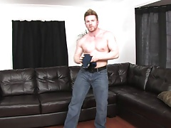 Blonde stud loves it when he hold his tool just for your pleasure
