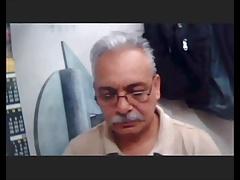 mexican sexy grandpa wanking webcam