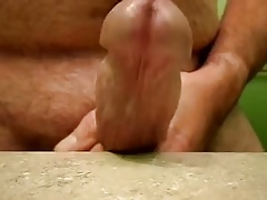 Curved thick horny hard dick close up dry hump huge head
