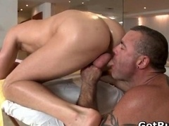 Smooth assed guy gets great gay
