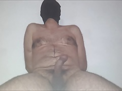 Cum no hand (Sitting and tied)
