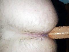 Anal Dildo Ride With Huge Gape - 8 Inches In My Tight Ass