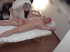 Young Straight Guy Gets Anal Fuck on Massage Table