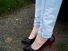 Heels - nude feet outdoor - PART 2