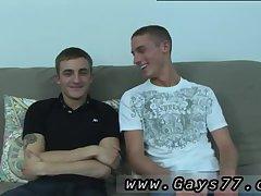 Cute guys stripping & kissing