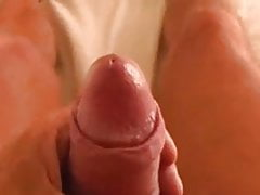 Grandpa shoots his spunky load on cam