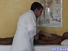 Asian twink squirting enema after bj from doctor