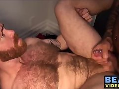 Hot and strong bear Marc Angelo barebacking Zack Acland