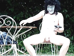 naked outdoor screwdriver with spoon in cock masturb ejac