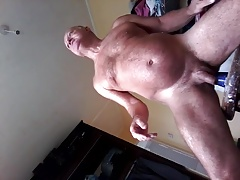 man uses plastic bottle up ass hole for SEX