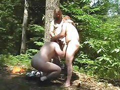 Forest gay threesome