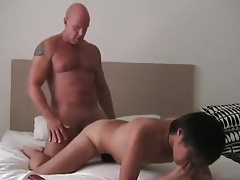 hot daddy and asian twink