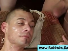 Bukkake gay amateurs slam ass