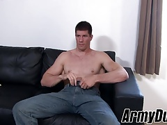 Big guy Jake masturbates his hard dick