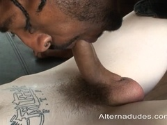 Black poofter gets his ass fucked in all positions