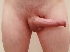 HD Slow-mo cock slap (watch the precum fly)