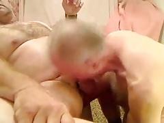 Mature men sucking a another mature men's cock