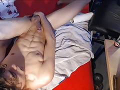 Wank, selfsuck and cumshot 04