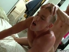 Andrew is making love his cock hungry gay
