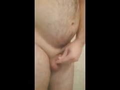 Cock play in the shower