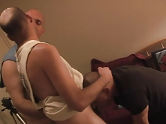 Hunky gay man punished by his master