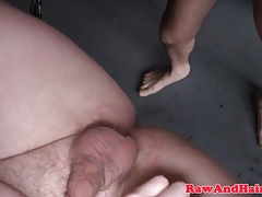 Young bottom chub ass rimmed and barebacked