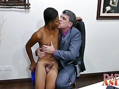 Young asian guy Josh spreads his asshole and gets hard cock