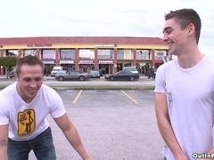 Ryan Rockford enjoys sex with his homosexual BF in the street