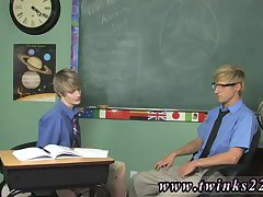 He showcases by wedging his teacher's rod in his mouth