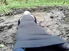 Pati wet mud black dress