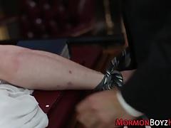 Gay mormon gets tied up