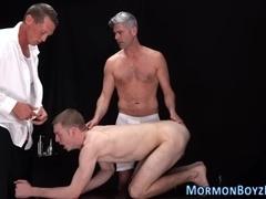 Mormon guys 3way fucking