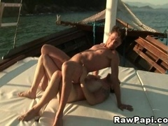 Two horny queers enjoy some ardent banging on a ship