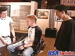 Horny twink dudes gets naughty with this painters ass