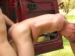 Sexy Boy's Hot Outdoor Bareback Fun