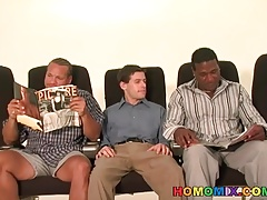 White twink satisfying black men