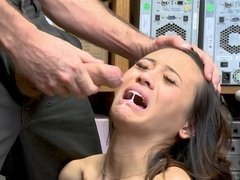 Exotic brunette Jasmine Grey screwed by cocky LP officer