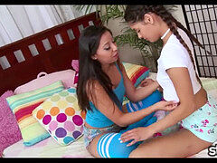handjob Compilation with 2 Latinas smooching
