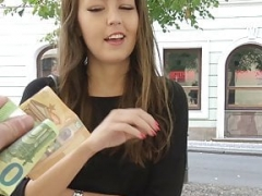 GERMAN SCOUT - Smoking hot TEEN CINDY TALK FUCK AT STREET CASTING