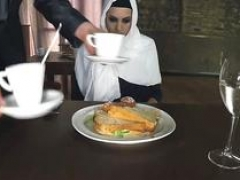 Arab Hungry Dame Gets Food and Fuck