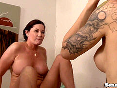 girl/girl trans polws mature girl after rubdown